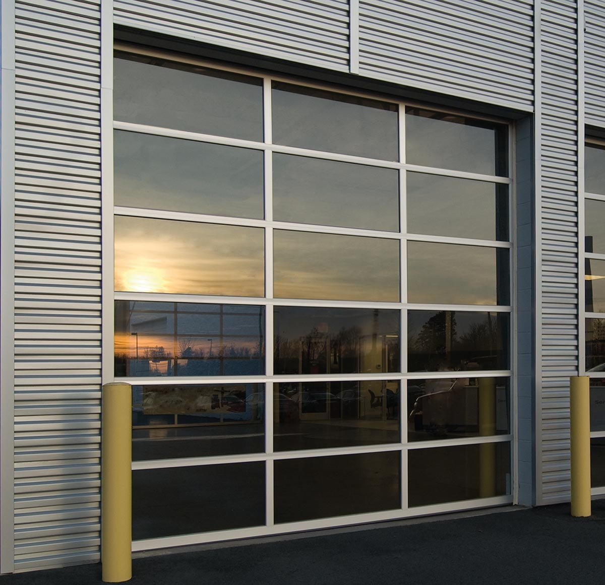 roll steel king rollup up single garage chromadek brown portfolio types slat door