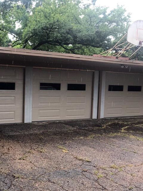 car port after adding garage doors