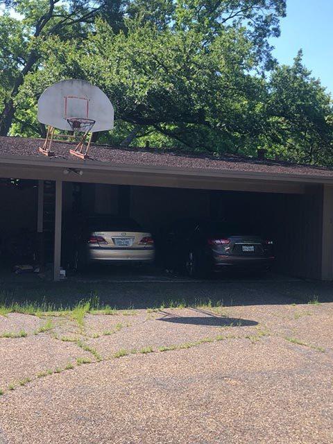 car port before adding garage doors